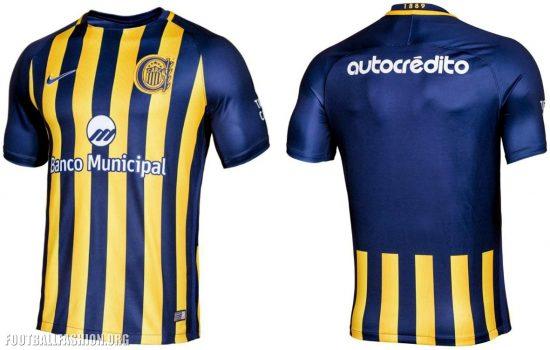 Rosario Central 2017 Nike Home and Away Football Kit, Soccer Jersey, Shirt, Camiseta de Futbol, Equipacion
