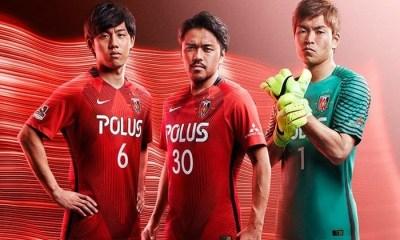 Urawa Red Diamonds 2017 Nike Home and Away Football Kit, Soccer Jersey, Shirt
