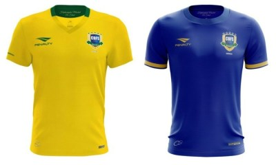 8666c360e9 Brazil Futsal 2017 Penalty Home and Away Football Kit