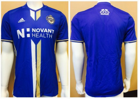 Charlotte Independence 2017 adidas Home and Away Soccer Jersey, Football Kit, Shirt