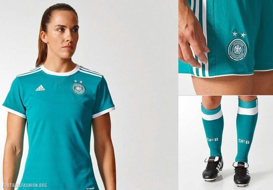 Germany Women's EURO 2017 adidas Away Football Kit, Soccer Jersey, Shirt, Trikot, Auswärtstrikot