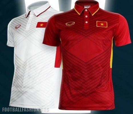 Vietnam 2017 2018 Grand Sport Home and Away Football Kit, Soccer Jersey, Shirt, ÁO THI ĐẤU TUYỂN VIỆT NAM 2017