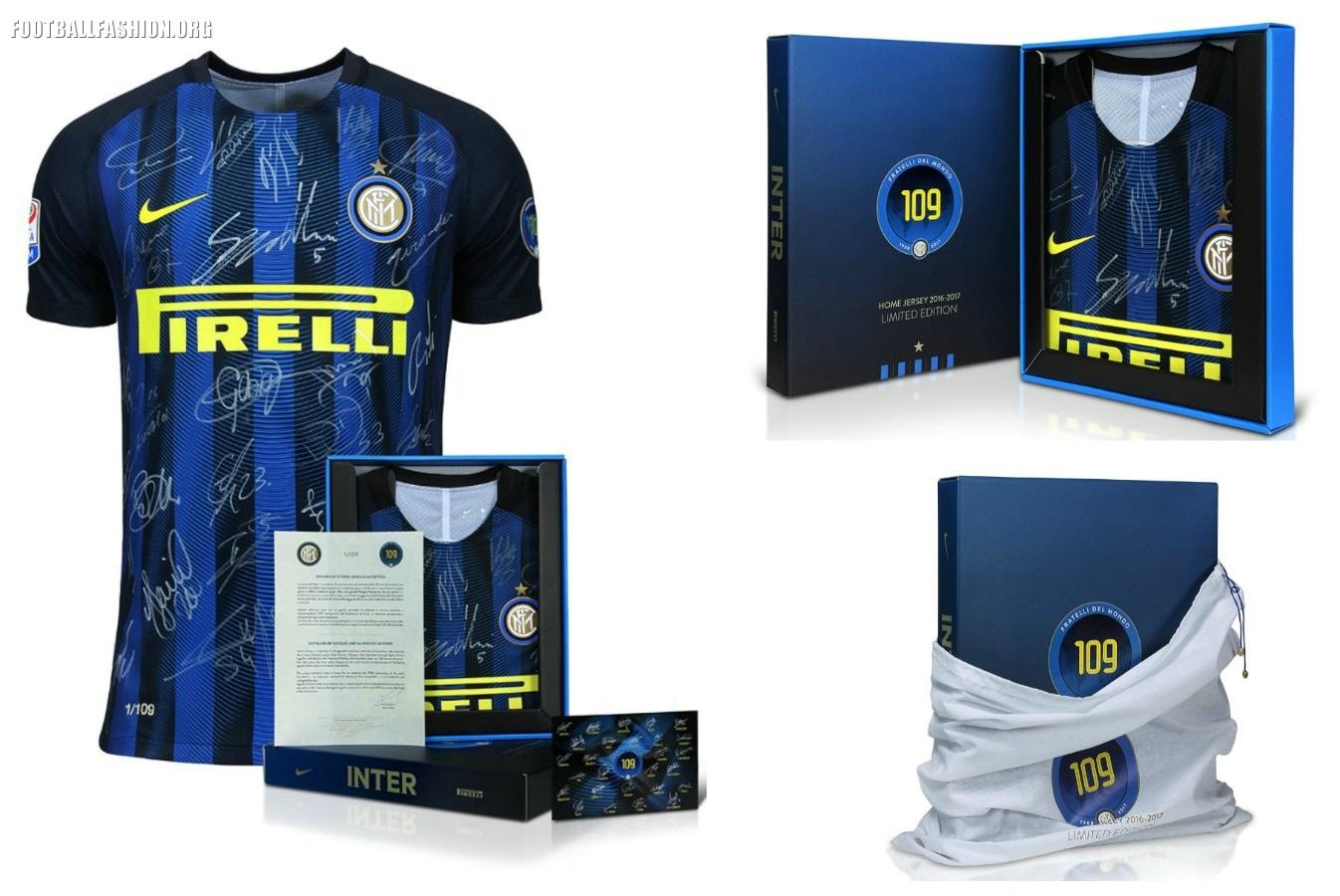 on sale 92bf6 fc3c8 Inter Milan 109th Anniversary Nike Jersey - FOOTBALL FASHION.ORG