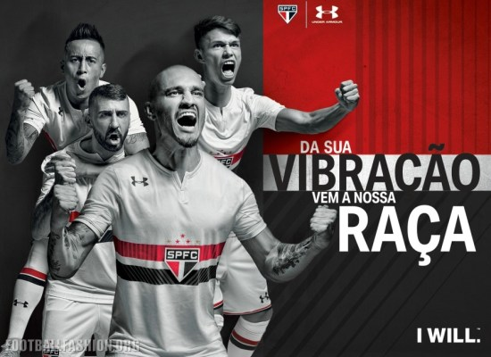 São Paulo FC 2017 Under Armour Home Soccer Jersey, Football Kit, Shirt, Camiseta de Futbol, Camisa I do Futebol