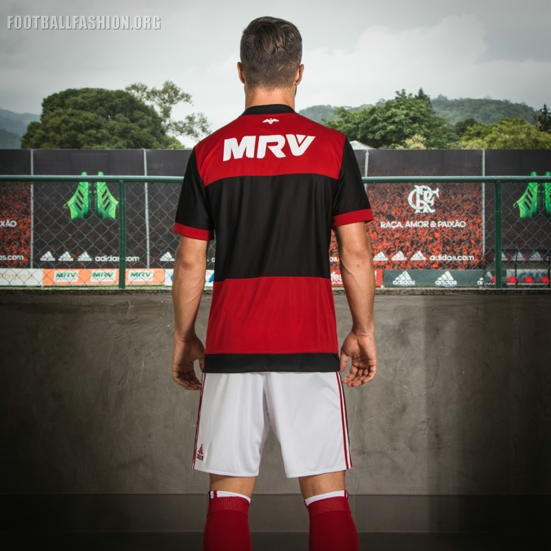 CR Flamengo 2017 18 adidas Home Kit – FOOTBALL FASHION.ORG 8c1b92700