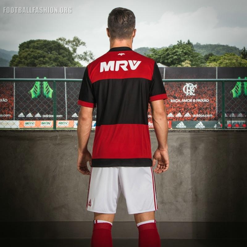 fc5d63f103 CR Flamengo 2017/18 adidas Home Kit - FOOTBALL FASHION.ORG