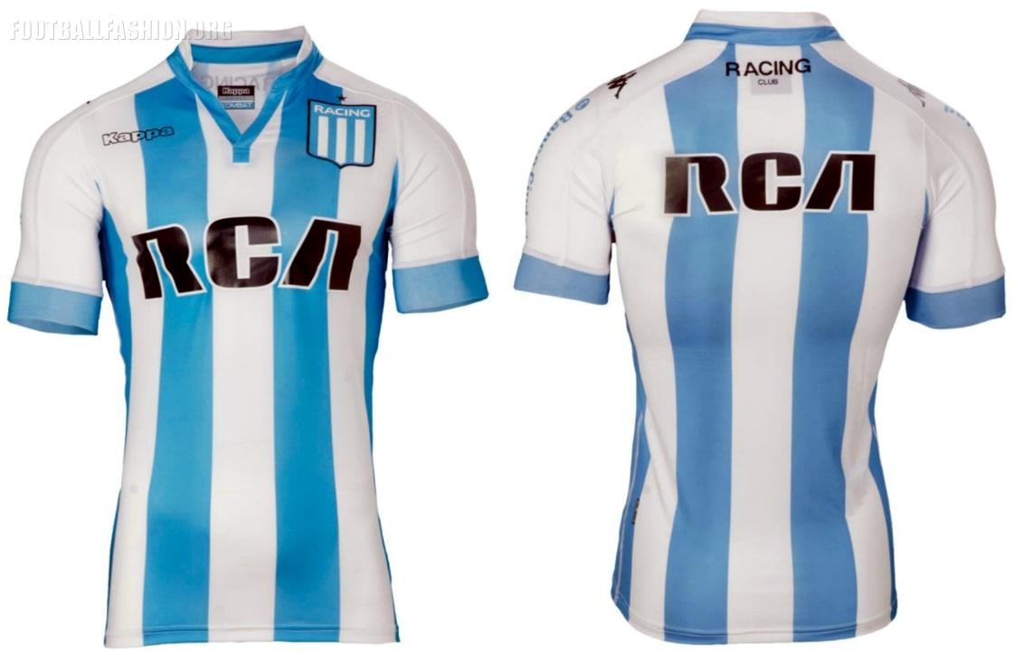 ac15fe428 Racing Club 2017 2018 Kappa Home and Away Football Kit, Soccer Jersey,  Shirt,