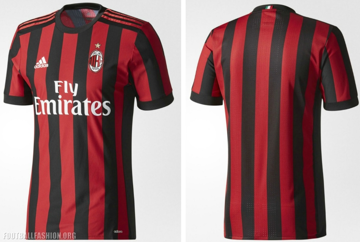 the latest 2e843 4fc34 ac milan soccer club jersey marron