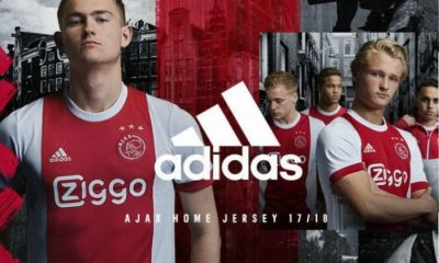 AFC Ajax 2017 2018 adidas Home Football Kit, Soccer Jersey, Shirt, Tenue, Thuisshirt