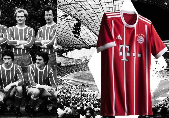 bayern munich 2017 18 adidas home kit football fashion org. Black Bedroom Furniture Sets. Home Design Ideas