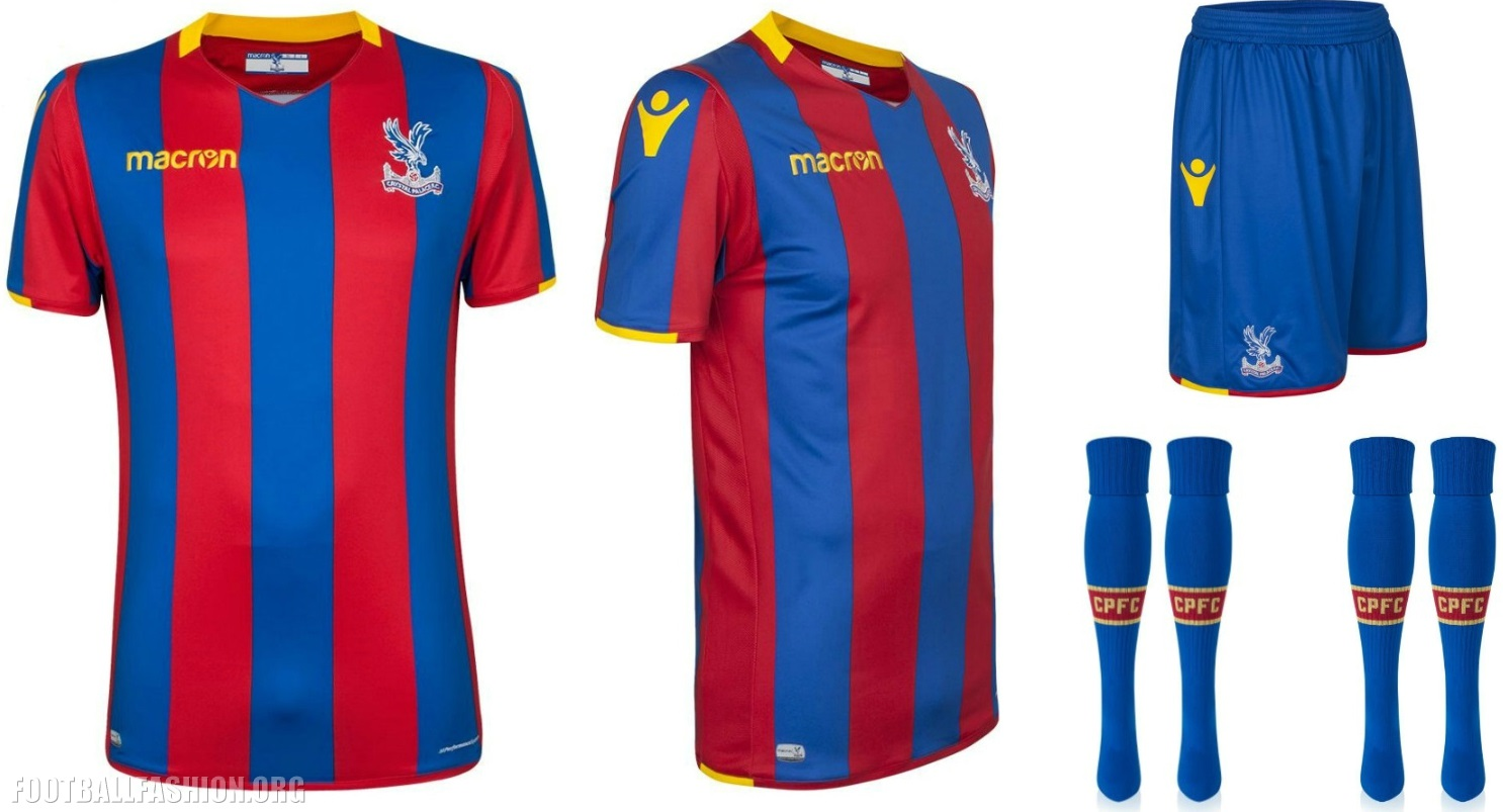 30590f317cb4 Crystal Palace FC 2017 18 Macron Home Kit - FOOTBALL FASHION.ORG