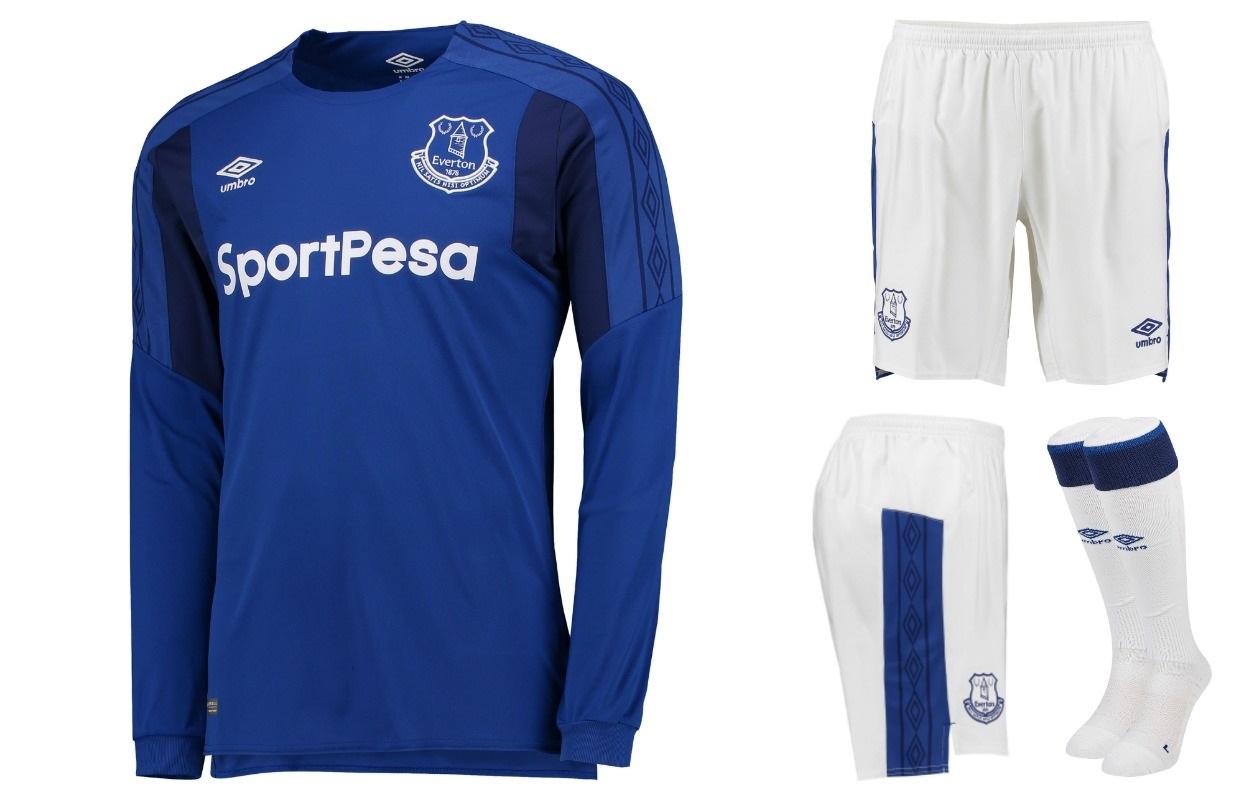 wholesale dealer 2185b bc8d8 Everton FC 2017/18 Umbro Home Kit - FOOTBALL FASHION.ORG