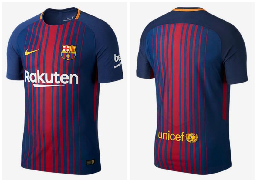 fc barcelona 2017 2018 nike home football kit soccer jersey shirt camiseta