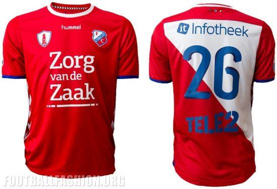 FC Utrecht 2017 2018 hummel Home Football Kit, Soccer Jersey, Shirt, Tenue, Wedstrijdshirt Thuis, Thuisshirt