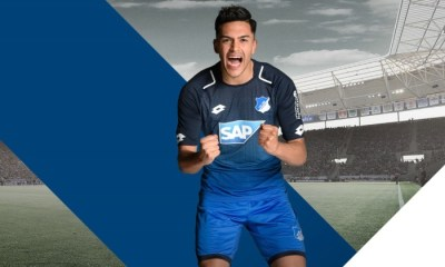 TSG 1899 Hoffenheim 2017 2018 Lotto Home Football Kit, Soccer Jersey, Shirt, Trikot, Heimtrikot