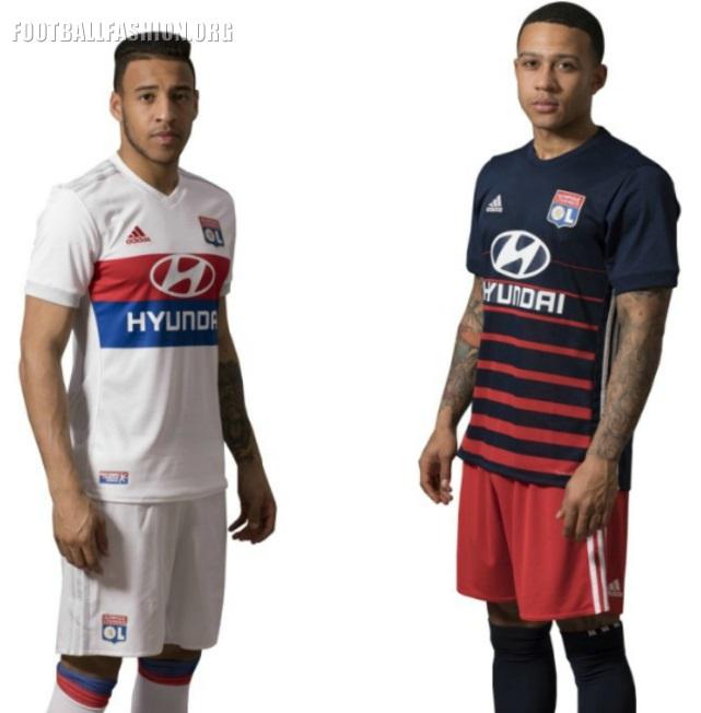 Olympique Lyon 2017 18 adidas Home and Away Kits – FOOTBALL FASHION.ORG a160a90d3
