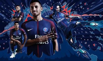 Paris Saint-Germain 2017 2018 Nike Home Football Kit, Soccer Jersey ...