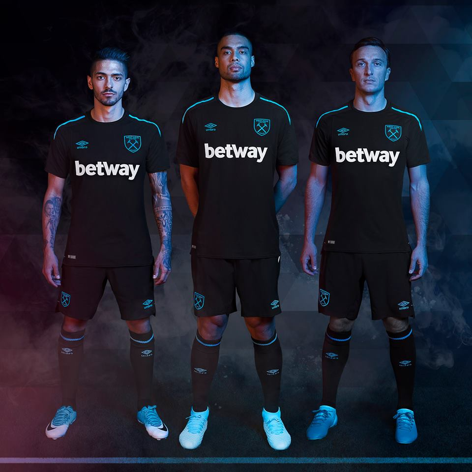 the best attitude a4a34 c4297 West Ham United 2017/18 Umbro Away Kit - FOOTBALL FASHION.ORG