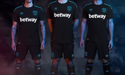West Ham United 2017 2018 Umbro Away Football Kit, Soccer Jersey, Shirt, Camiseta, Camisa, Maillot, Trikot