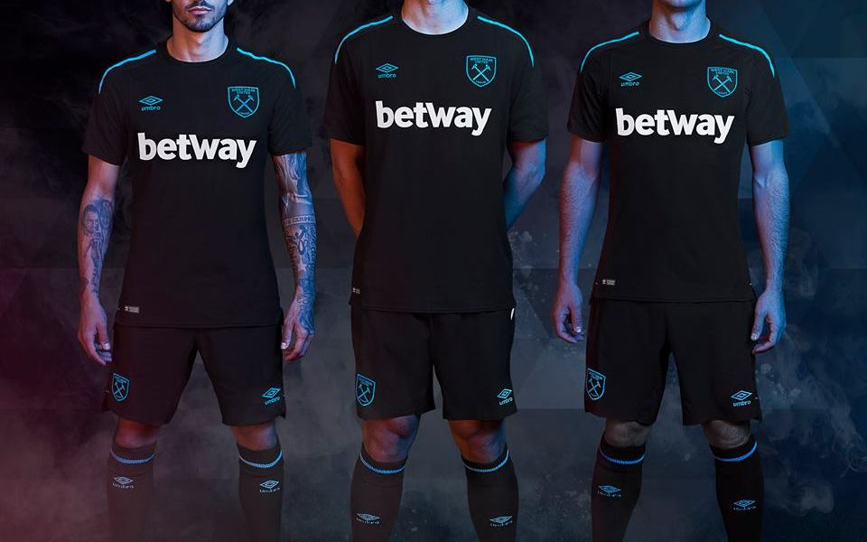 West Ham United 2017 2018 Umbro Away Football Kit, Soccer Jersey, Shirt, Camiseta, Camisa, Maillot, Trikot