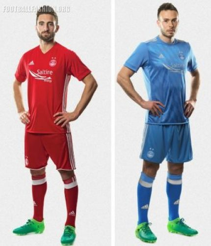 Aberdeen FC 2017 2018 adidas Home and Away Football Kit, Soccer Jersey, Shirt