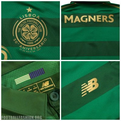 Celtic FC 2017 2018 New Balance Away Football Kit, Soccer Jersey, Shirt