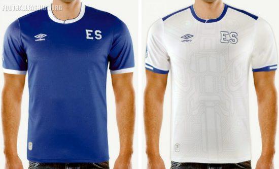 El Salvador 2017 2018 Gold Cup New Balance Home and Away Football Kit, Soccer Jersey, Shirt, Camiseta de Fubol Copa Oro, Equipacion