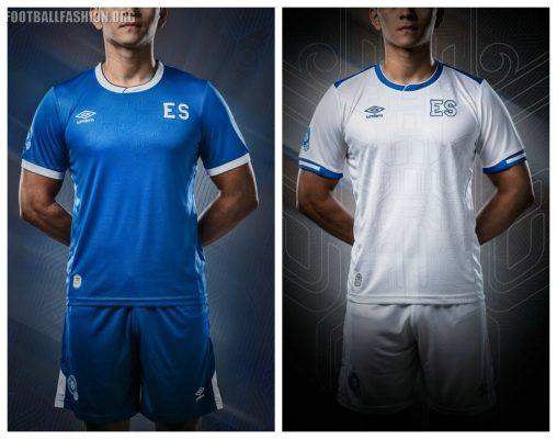 El Salvador 2017 2018 Gold Cup Umbro Home and Away Football Kit, Soccer Jersey, Shirt, Camiseta de Fubol Copa Oro, Equipacion