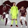 Heart of Midlothian FC 2017 2018 Umbro Home Football Kit, Soccer Jersey, Shirt