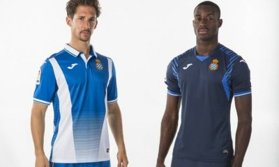 RCD Espanyol 2017 2018 Joma Home, Away and Third Football Kit, Soccer Jersey, Shirt, Camiseta, Camisa, Equipacion