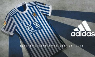 Real Sociedad 2017 2018 adidas Home and Away Football Kit, Soccer Jersey, Shirt, Camiseta de Futbol, Camisa, Equipacion