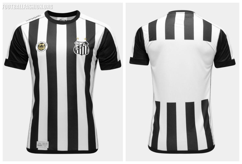 c8b3cb55858 Santos FC 2017/18 Kappa Away Kit - FOOTBALL FASHION.ORG