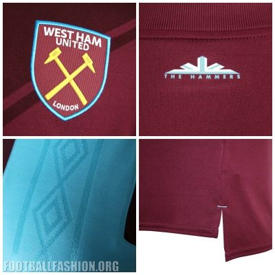 West Ham United 2017 2018 Umbro Home Football Kit, Soccer Jersey, Shirt, Camiseta, Camisa, Maillot, Trikot