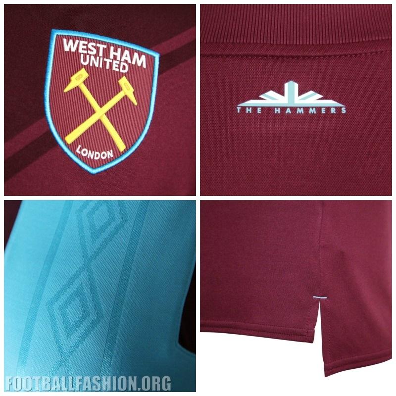 newest collection 9ed26 b7cc7 West Ham United 2017/18 Umbro Home Kit - FOOTBALL FASHION.ORG