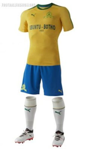 Mamelodi Sundowns PUMA 2017 2018 Home and Away Football Kit, Soccer Jersey, Shirt