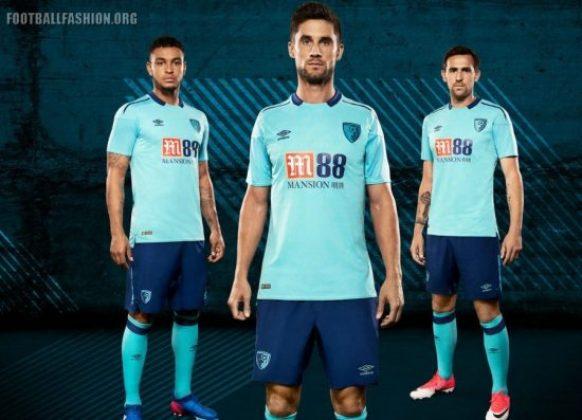AFC Bournemouth 2017 2018 Umbro Away Football Kit, Soccer Jersey, Shirt, Camiseta, Maillot