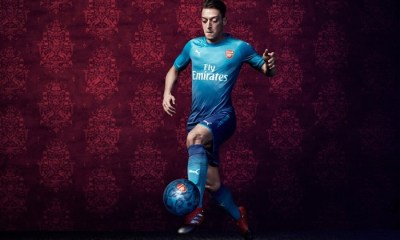 Arsenal FC 2017 2018 PUMA Blue Away Football Kit, Soccer Jersey, Shirt, Maillot, Camiseta, Camisa, Trikot, Tenue, Equipacion
