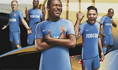 AS Monaco 2017 2018 Nike Away Football Kit, Soccer Jersey, Shirt, Maillot, Camiseta, Camisa, Trikot, Tenue