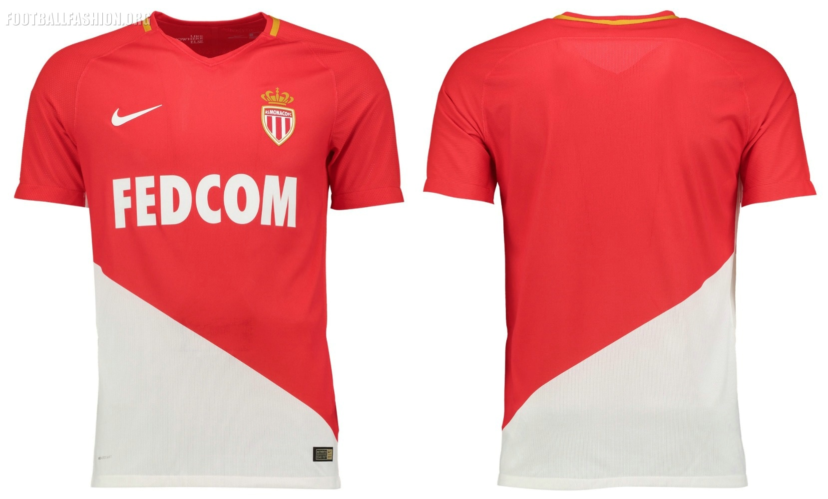 AS Monaco 2017 18 Nike Home Kit – FOOTBALL FASHION.ORG f083334538b