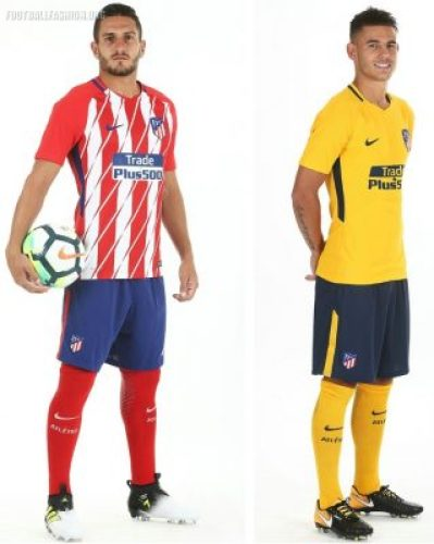 75a3c5582e4f0 Atlético Madrid 2017 18 Nike Home and Away Kits - Football Fashion