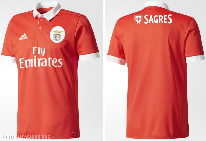 SL Benfica 2017 18 adidas Home Kit – FOOTBALL FASHION.ORG bb26b63b1