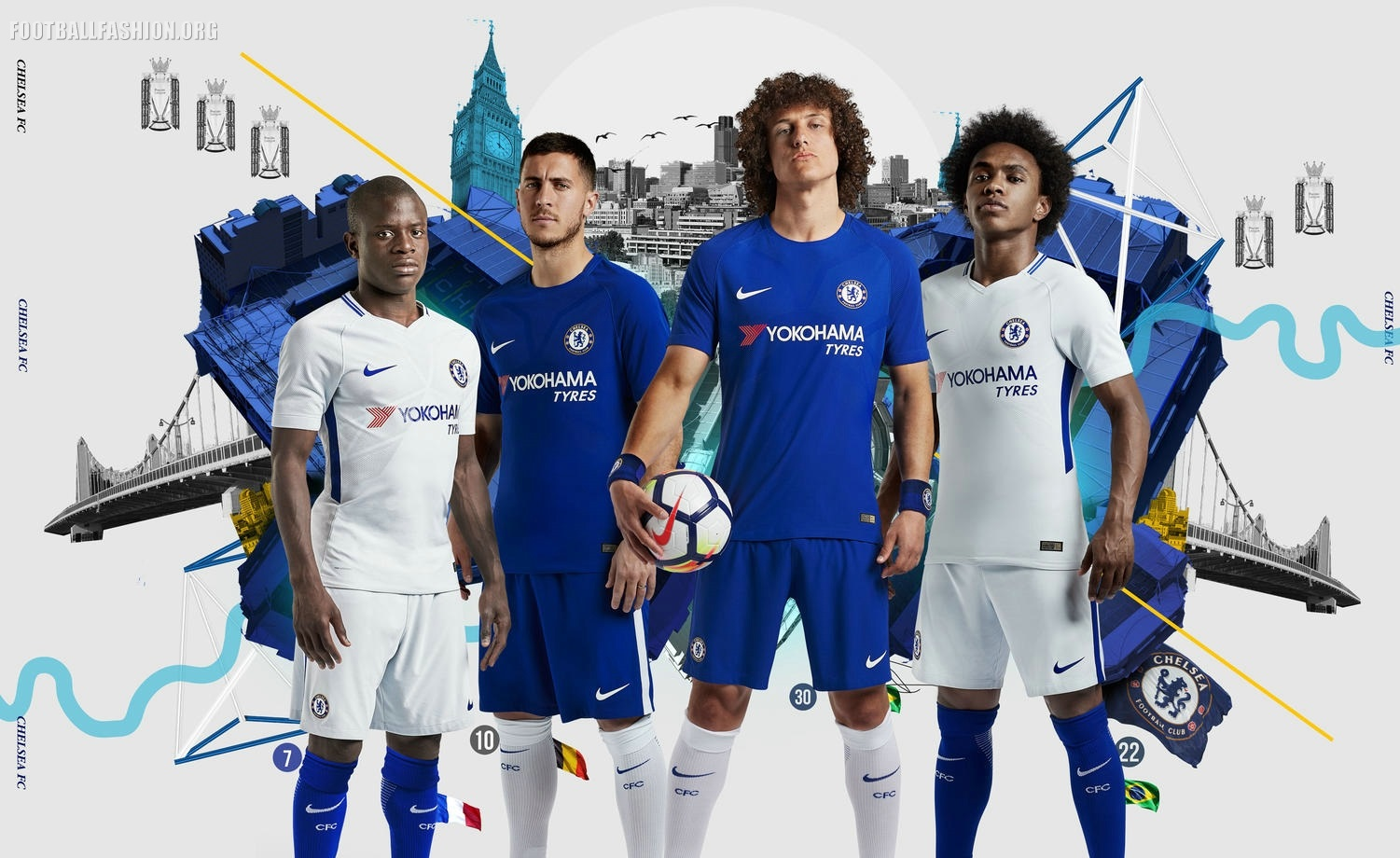 0ded683fd Chelsea FC 2017 18 Nike Home and Away Kits – FOOTBALL FASHION.ORG