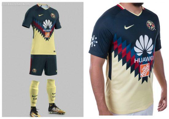 Club América 2017 2018 Nike Home Soccer Jersey, Shirt, Football Kit, Equipacion, Camiseta, Playera, Uniforme