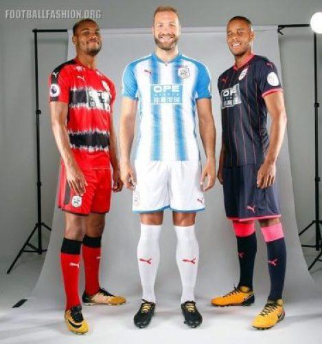Huddersfield Town 2017 2018 PUMA Third Football Kit, Soccer Jersey, Shirt