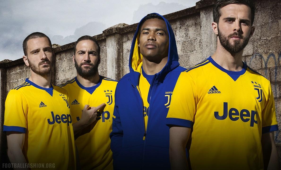 aec2112d44d Juventus 2017 2018 adidas Yellow Away Football Kit, Soccer Jersey, Shirt,  Camiseta,