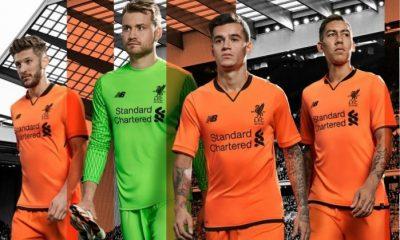 Liverpool FC 125th Anniversary 2017 2018 New Balance Otange Third Football Kit, Soccer Jersey, Shirt, Camiseta de Futbol, Camisa, Maillot, Trikot, Tenue