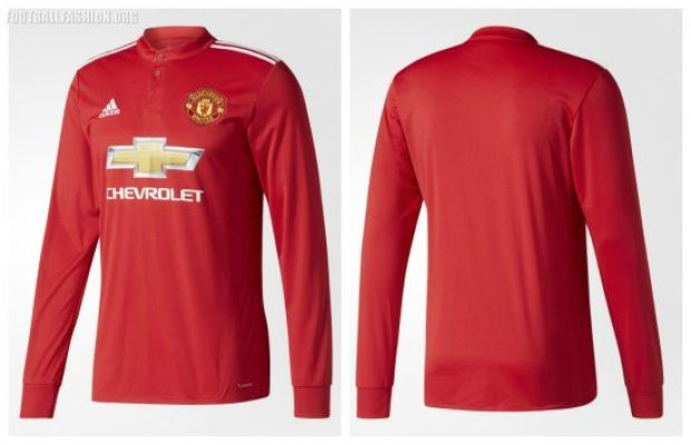 Manchester United 2017 2018 adidas Red Home Football Kit, Soccer Jersey, Shirt, Trikot, Camisa, Camiseta, Maillot