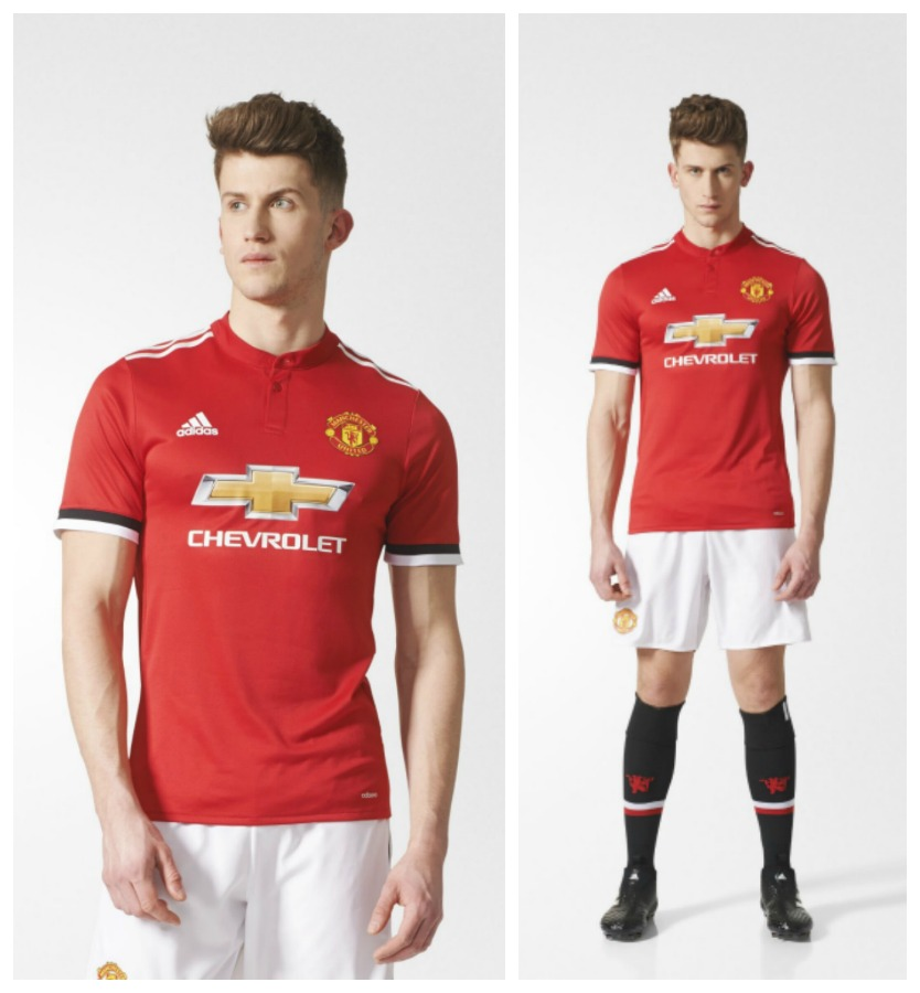 The Red Devils' 17/18 home shirt is now available at World Soccer Shop,  Subside Sports, Lovell Soccer, UK Soccer Shop and Kitbag in replica  (Climacool) and ...