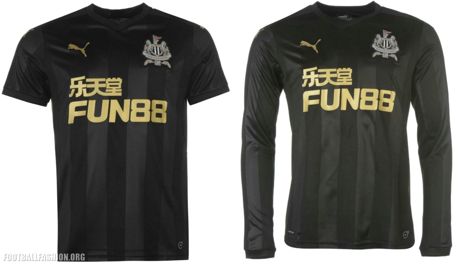 Newcastle United 2017 2018 125th Anniversary PUMA Black Third Football Kit 7796bc9843afa