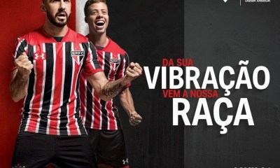 São Paulo FC 2017 Under Armour Away Soccer Jersey, Football Kit, Shirt, Camiseta de Futbol, Camisa II do Futebol